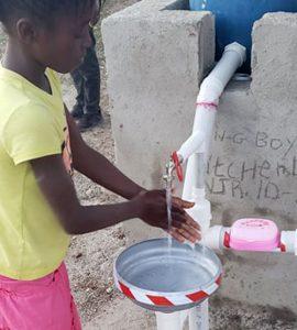 hand washing in haiti